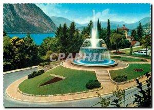 Postcard Modern Campione La Fontana Lake Lugano