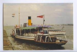 SIM0094 - River Dart Paddle Steamer - Kingswear Castle , built 1924 - postcard