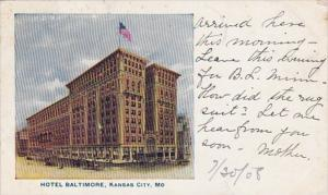 Missouri Kansas City Hotel Baltimore 1906