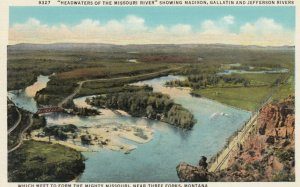 THREE FORKS, Montana, 1910s; Headwaters of the Missouri River, Madison, Gal...
