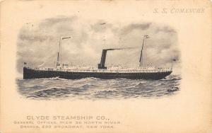 New York City~No One Sick Yet: Clyde Steamship Company SS Comanche 1911