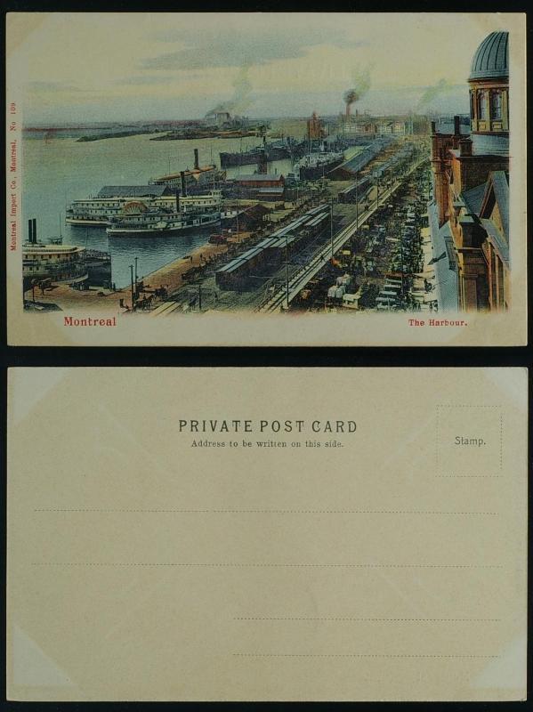 The Harbour ships railroad Bonaventure market Montreal Que c