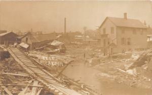 E71/ East Akron Ohio RPPC Postcard 1913 Flood Disaster