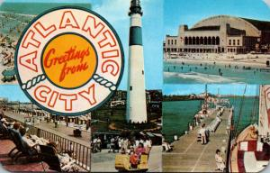 New Jersey Atlantic City Greetings With Lighthouse and More