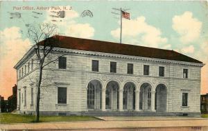 Asbury Park New Jersey~Post Office~1913 Postcard
