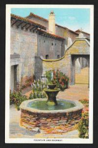 Fountain Door Mission San Juan Capistrano CA Unused c1920s
