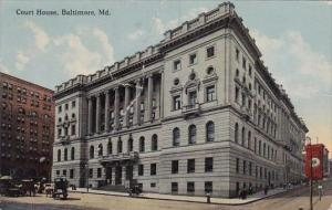 Maryland Baltimore Court House 1917
