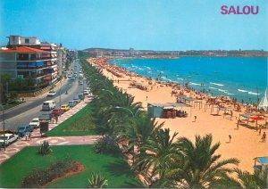 Postcard Spain Costa Dorada Salou playa y paseo