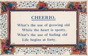 Life Begins At Forty Growing Old Proverb Famous Saying Postcard