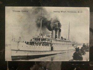 Mint Canada Picture Postcard Ship CPR Steamer Princess Victoria Leaving