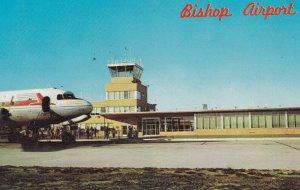 Airplane at airport, FLINT, Michigan, PU-1968