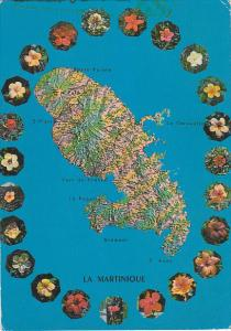 Map Of Martinique The Island Of Flowers 1978