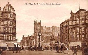 West End, Princes Street Edinburgh Scotland, UK Unused
