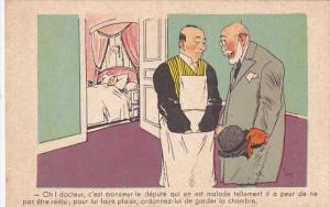 Political Comic postcard , France ,  10-30s # 25