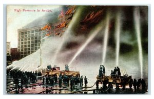 Postcard High Pressure in Action, Firefighters 1911 Y65