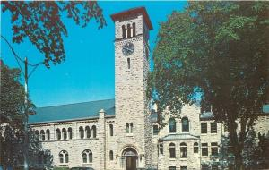 Kingston Ontario~Queen's University~Grant Hall~Clock Tower~1950s Postcard