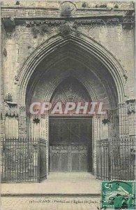 Postcard Caen Old Church St Jean Portal