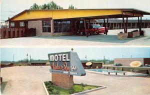 Ulvalde Texas Motel Amber Sky Vintage Postcard J51399