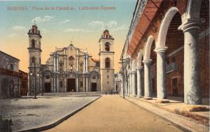 HABANA CUBA~PLAZA de la CATEDRAL~THE CATHEDRAL SQUARE POSTCARD