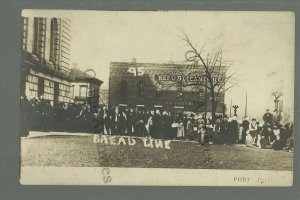 Peru INDIANA RPPC 1913 BREAD LINE Charity FLOOD VICTIMS Hunger SOCIAL HISTORY