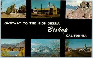 Bishop, California Postcard Gateway to the High Sierra Multi-View Scenes 1960s
