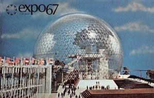 Canada Montreal Expo67 Pavilion of the US transparent geodesic skybreak bubble