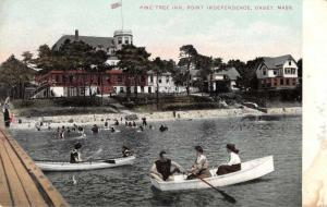 Onset Massachusetts Point Independence Pine Tree Inn Antique Postcard J55334