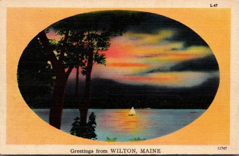 Maine Greetings From Wilton