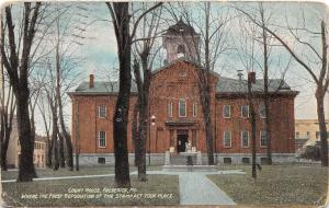 B48/ Frederick Maryland Md Postcard 1910 Court House First Republican Stamp Act