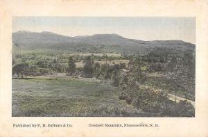 Francestown New Hampshire Crochett Mountain Antique Postcard K87233