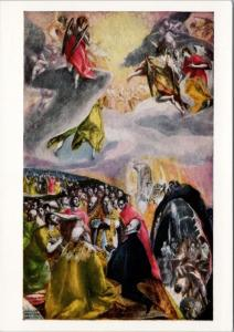 Adoration of the Name of Jesus El Greco National Gallery Art Card Postcard D37