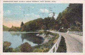 Massachusetts West Becket Greenwater Pond Jacobs Ladder Roadway 1924