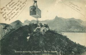 brazil, RIO DE JANEIRO, Caminho Aereo Pao d'Assucar, Cable Car (1910s) (1)