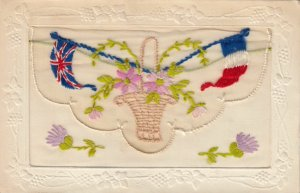 Embroidered 1914-18 ; Flags & Flowers