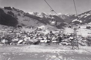 Switzerland Berne Zweisimmen Gondelbahn Zweisimmen Rinderberg Real Photo