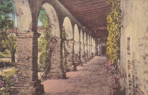 South Corridor and Padres' Quarters Old Mission San Juan Capistrano Californi...