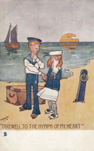 HAMMISH, 1900-10; Farewell to the Nymph of my Heart, TUCK SAILOR LADDIE 6414