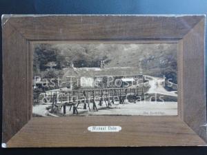 c1914 - Monsal Dale, showing wooden footbridge, Derbyshire