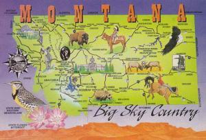 Montana Map Of Big Sky Country