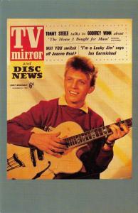Nostalgia Postcard Tommy Stelle 1957, TV Mirror & Disc News Repro Card NS30