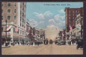 O Street Looking West,Lincoln,NE Postcard