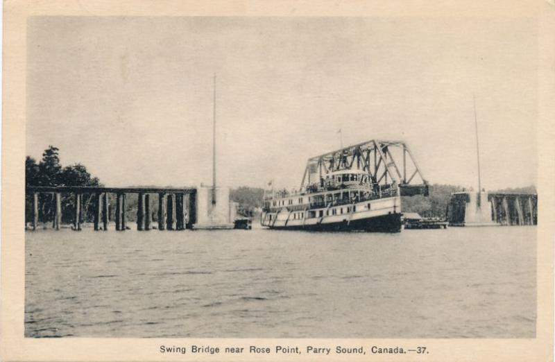Swing Bridge near Rose Point - Parry Sound, Ontario, Canada - pm 1935