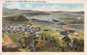 Balboa, Canal Zone, from the Top of Ancon Hill, Early Postcard, Unused