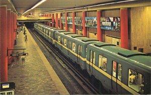 Canada Postcard Montreal Quebec McGill Metro Station