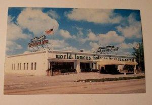 VTG Postcard World Famous Hofbrau Haus Hallandale Miami Washbash Florida new 450