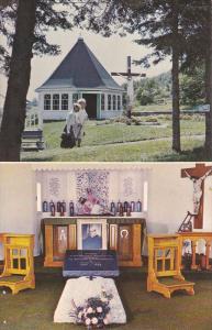 2-Views, La Gaspesie, Souvenir Chapel: The Tomb Of Father Watier, Pointe Nava...