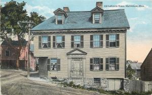 Marblehead Massachusetts~Old Lafayette House on a Hillside 1910 PC