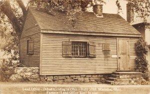 Marietta Ohio 1930s RPPC Real Photo Postcard Land Office Oldest Building