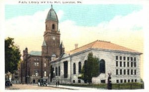 Public Library & City Hall in Lewiston, Maine