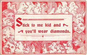 Postcard Stick to Me Kid and You Will Wear Diamonds